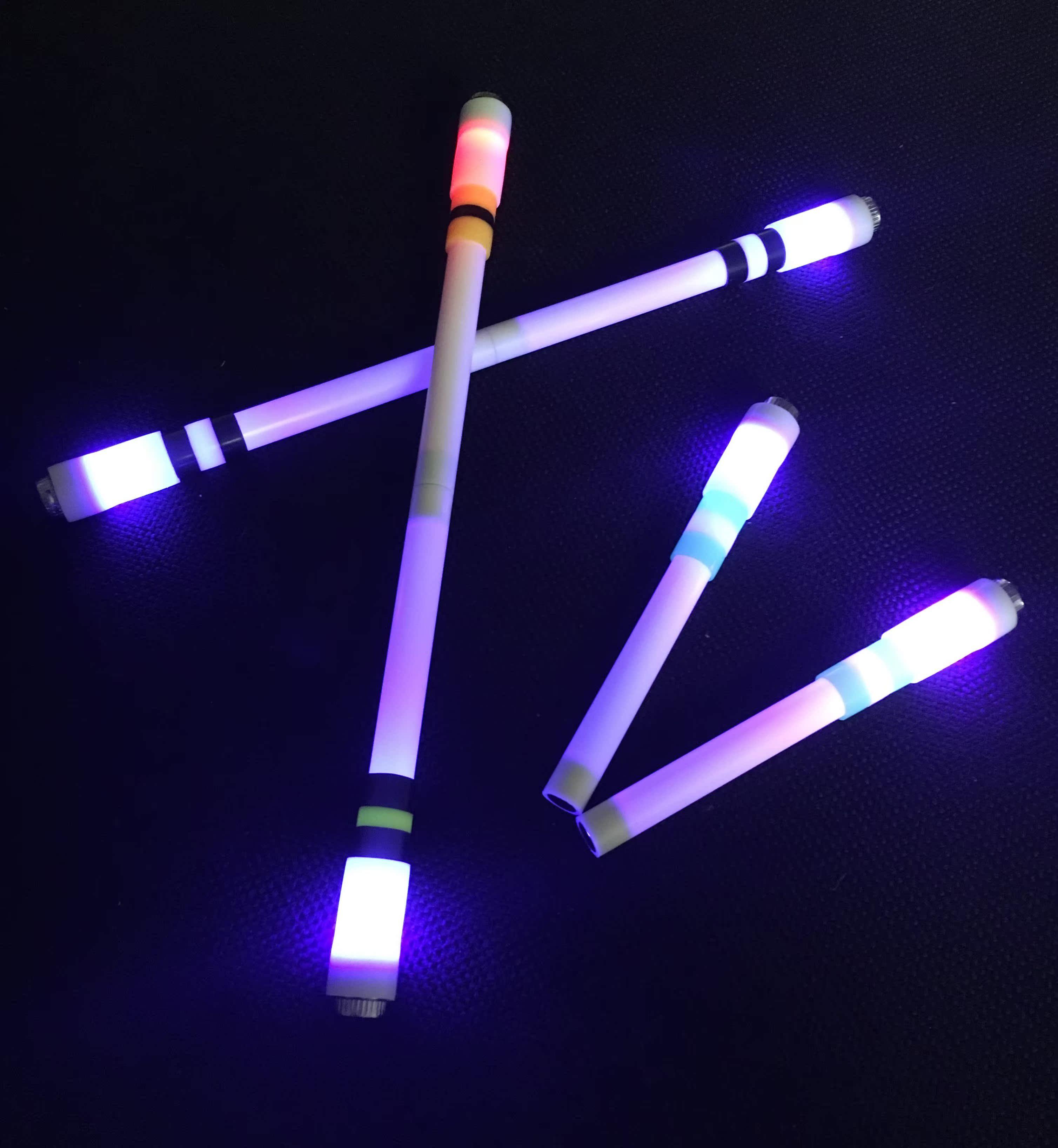 万和转笔双星灯笔升级版快手同款专用转转笔泡泡