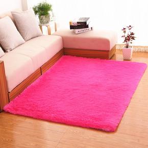 加厚长毛床边地毯简约丝毛地毯0.8*2米