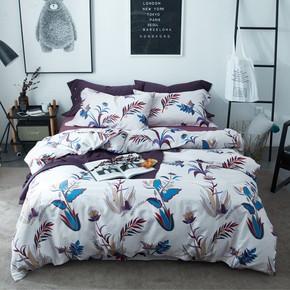 欢乐颂安迪同款60支全棉长绒棉简约优雅独立床单款床笠款四件套
