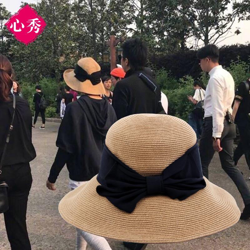 夏天蝴蝶结帽子
