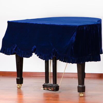 音月包邮三角钢琴罩金丝绒布料防尘罩中式钢琴罩专业订做琴罩