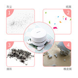 Deli Mini Desktop cleaner eraser crumbs student slag cleaning automatic electric powerful mini usb charging