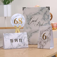 Marbling wedding wedding business table card place card sign in Taiwan card table number guest name table number