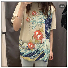 Hm8mz Pikachu Pet Elf Baoke Dream Carp King Printed Fashion T-shirt 422043 for men and women