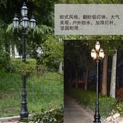 户外景观铝制道路灯翻砂铝五头欧式庭院广场灯室外小区防水草坪灯