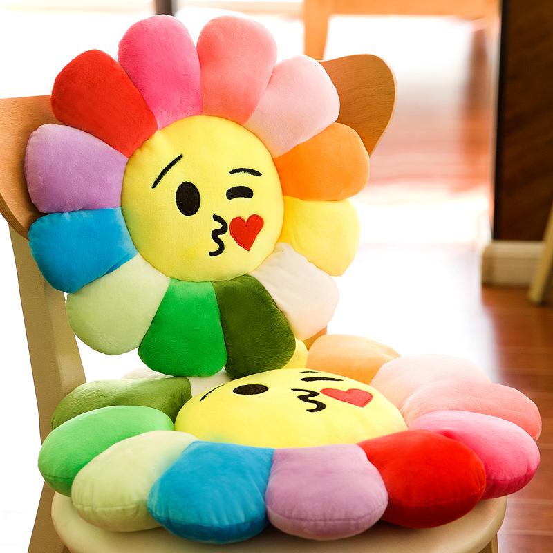 创意花朵坐垫毛绒玩具椅子大号学生坐垫办公室抱枕地板榻榻米电脑