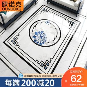 水刀拼花客厅现代大理石定制瓷砖拼花过道进门玄关地板砖拼花图