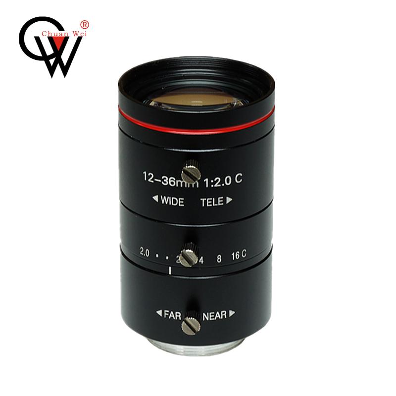 机器视觉长焦12-120mm工业镜头1/1.8英寸高清FA变焦低畸变C口镜头