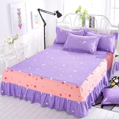 紫罗兰床裙四件套