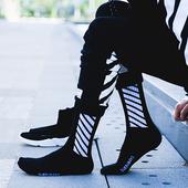 袜男潮欧美街头枫叶袜男女中筒袜高筒原宿运动长袜棉潮牌滑板袜子图片