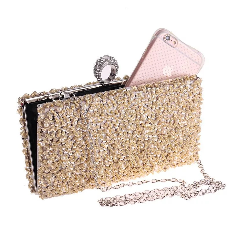 New Exquisite Fashion Women's Bags Beaded Party Bags Street Bags Bridal Brides