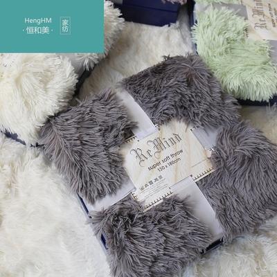 恒和美长毛毛毯子飘窗沙发毛毯搭毯拍照毛毯双层加厚单人毛毯被子