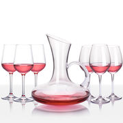 Red wine set home large wine glass cup holder decanter glass European crystal goblet 6 Pack