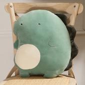 恐龙抱枕办公室靠垫沙发客厅靠背可爱靠枕被子两用枕头毯子二合一图片