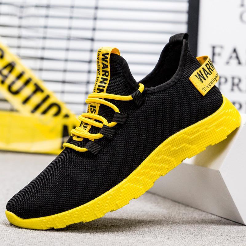夏季男鞋潮鞋2019新款韩版潮流休闲运动板鞋透气网鞋跑步百搭布鞋