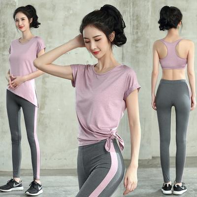 夏季健身套装女速干衣跑步瑜伽服好看的新款运动薄款夏天2019瑜珈