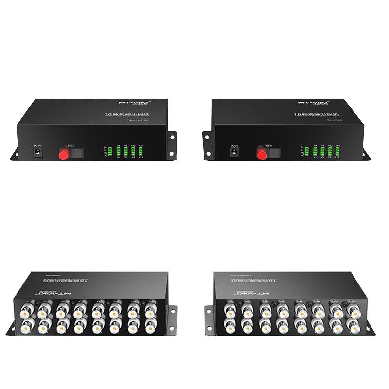 迈拓维矩MT-BF1016 16路视频光端机 BNC单模单纤FC接口桌面式一对