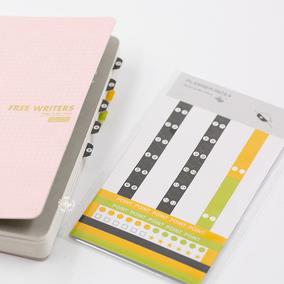 本子事多PLANNERBOOK款替换计划索引贴纸 常用贴标便签贴 5张入