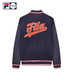 FILA FUSION斐乐外套女2018冬季新品潮流舒适棒球服运动休闲棉服