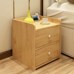 简易床头柜特价简约现代卧室床边柜宿舍收纳储物柜仿实木小柜子