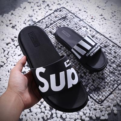 韩版拖鞋男夏时尚外穿沙滩防滑软底一字拖2019新款室外休闲凉拖潮