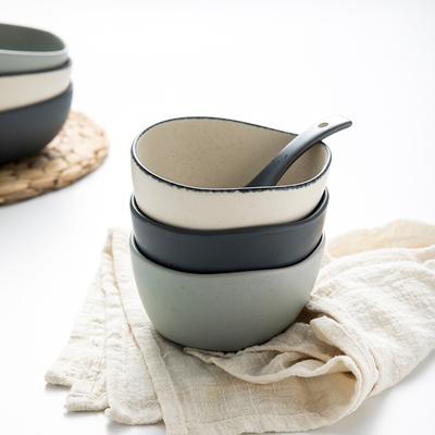 即物家用创意碗筷沙拉碗泡面碗深汤面碗陶瓷碗碟米饭碗可爱吃饭碗
