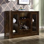 现代中式餐边柜碗柜酒柜收纳柜实木茶水柜橱柜储物柜厨房柜水曲柳