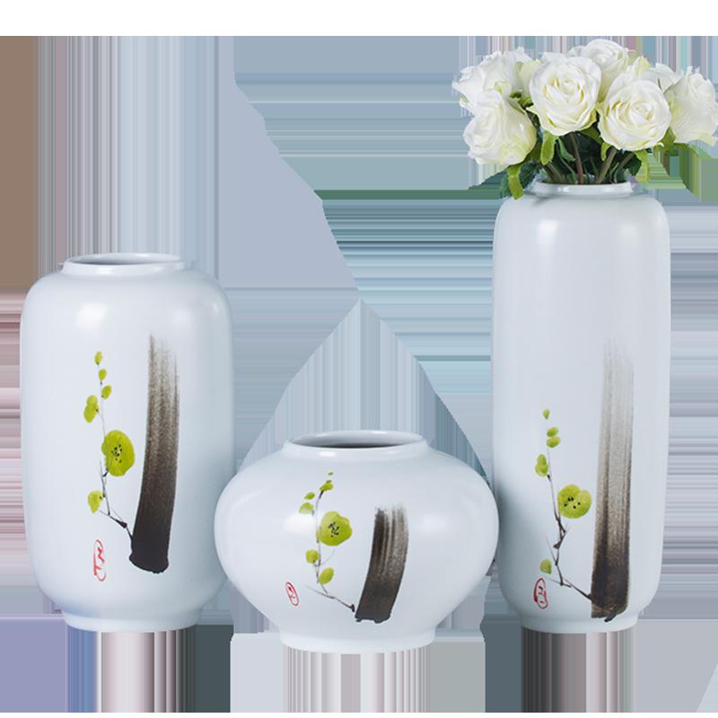 景勤新中式现代陶瓷三件套花瓶202