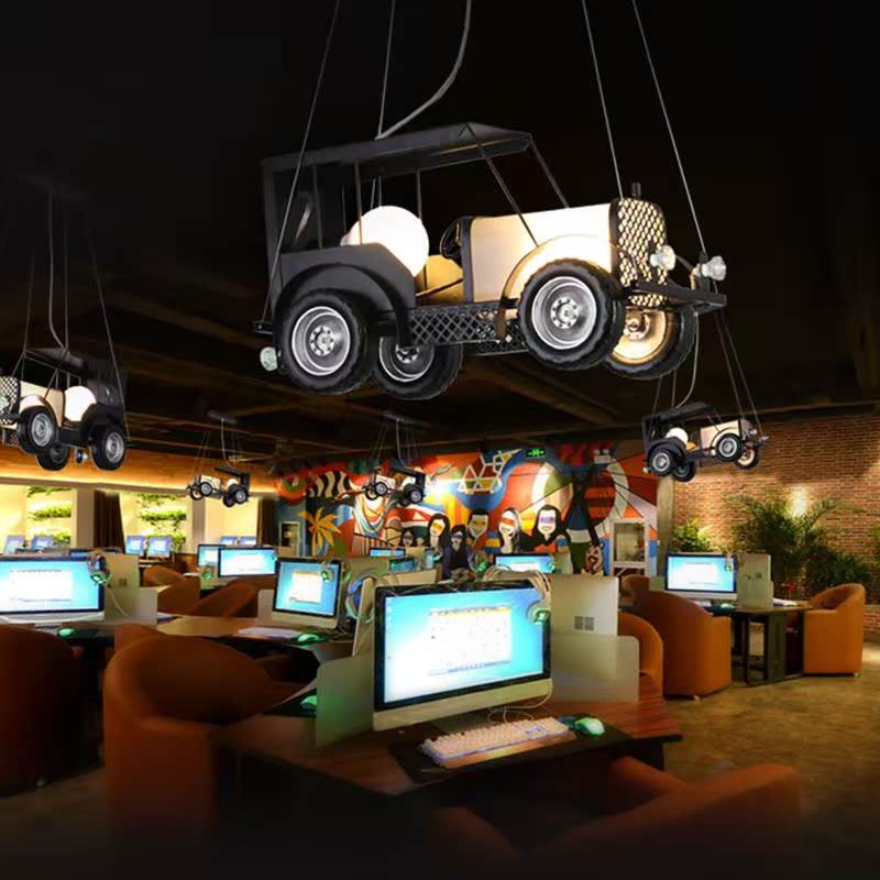 复古工业风吊灯创意个性餐厅卧室服装店儿童房灯汽车网咖装饰灯具