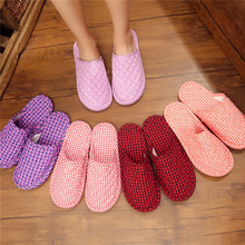 New Autumn and Winter Couple Style Baotou Cloth Bottom Slippers with Soft Bottom to Keep Warm without Damaging Wood Floor Home Slippers