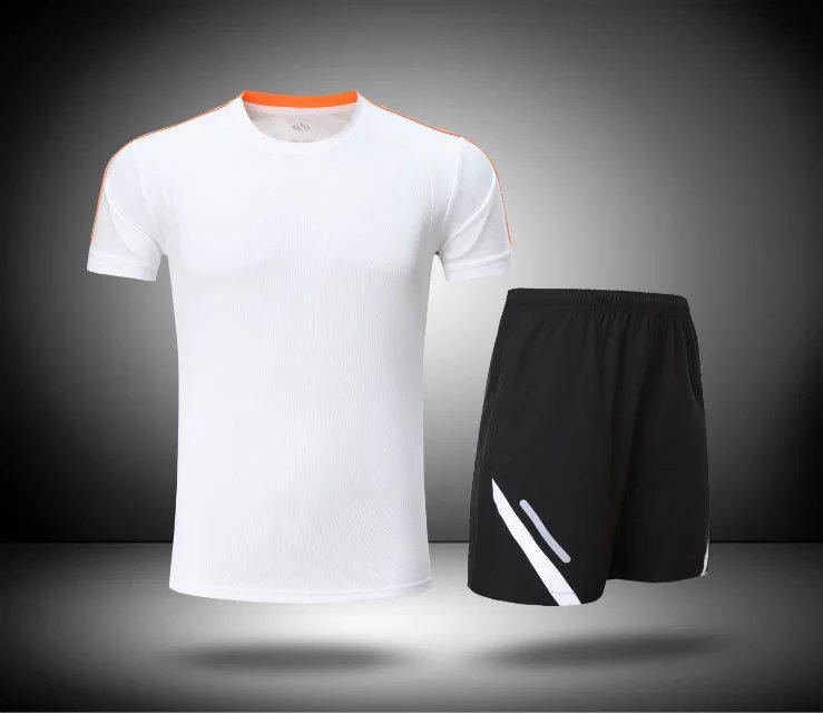 日本购跑步运动服套装可印字夏季速干短袖健身服男中学生体育训练