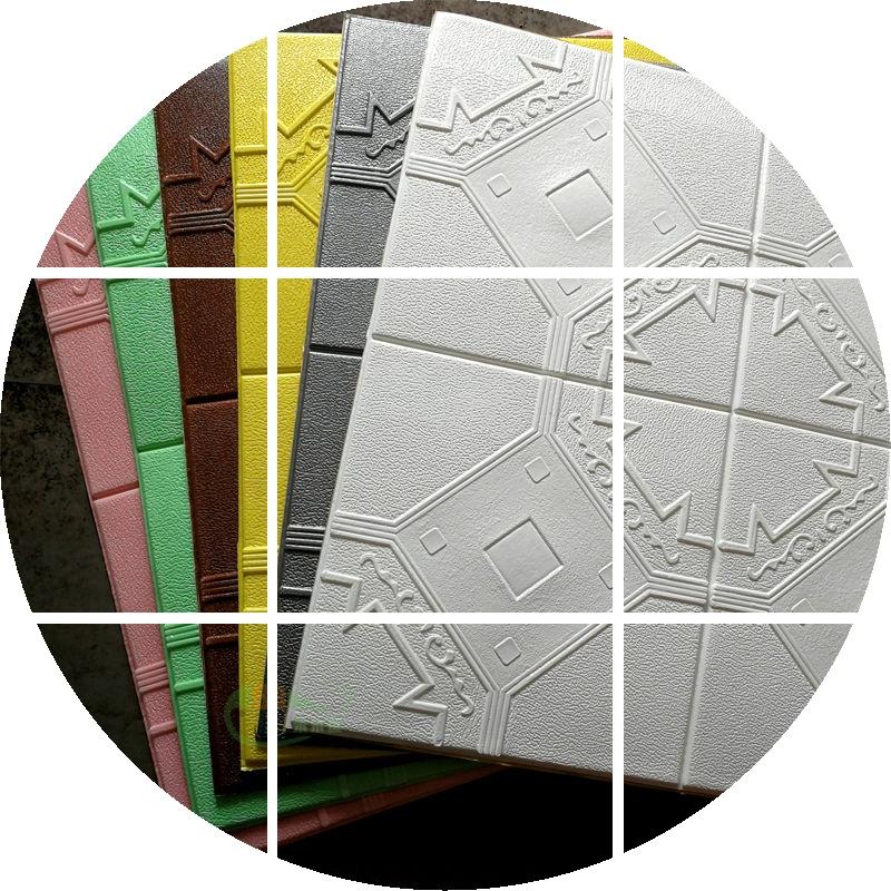 房墙顶天花板吊顶创意装饰3D立体软包背景墙墙贴自粘儿童防撞墙围