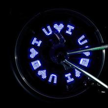 自行车气门灯7LED字母灯山地车气嘴灯风火轮美嘴气门灯夜骑装饰灯