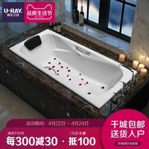 独立式彩色保温亚克力浴缸厂家直销包邮亚克力材质古典贵妃浴缸