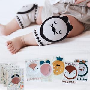 春夏季薄棉宝宝爬行护膝婴幼儿学步防摔网眼透气韩版卡通儿童袜套
