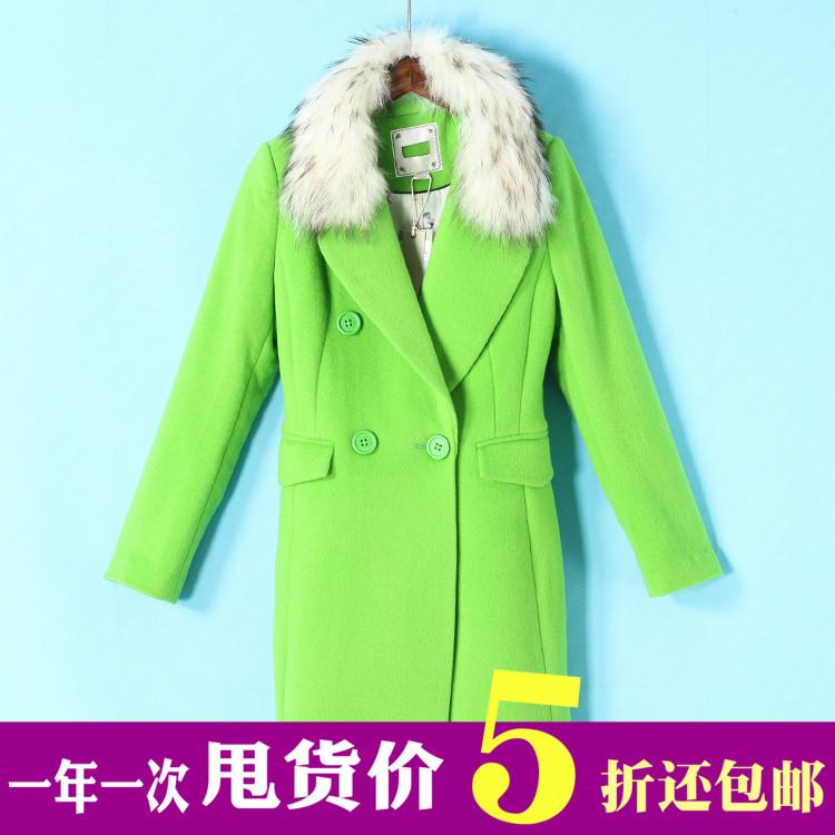 貉子毛羊毛呢大衣