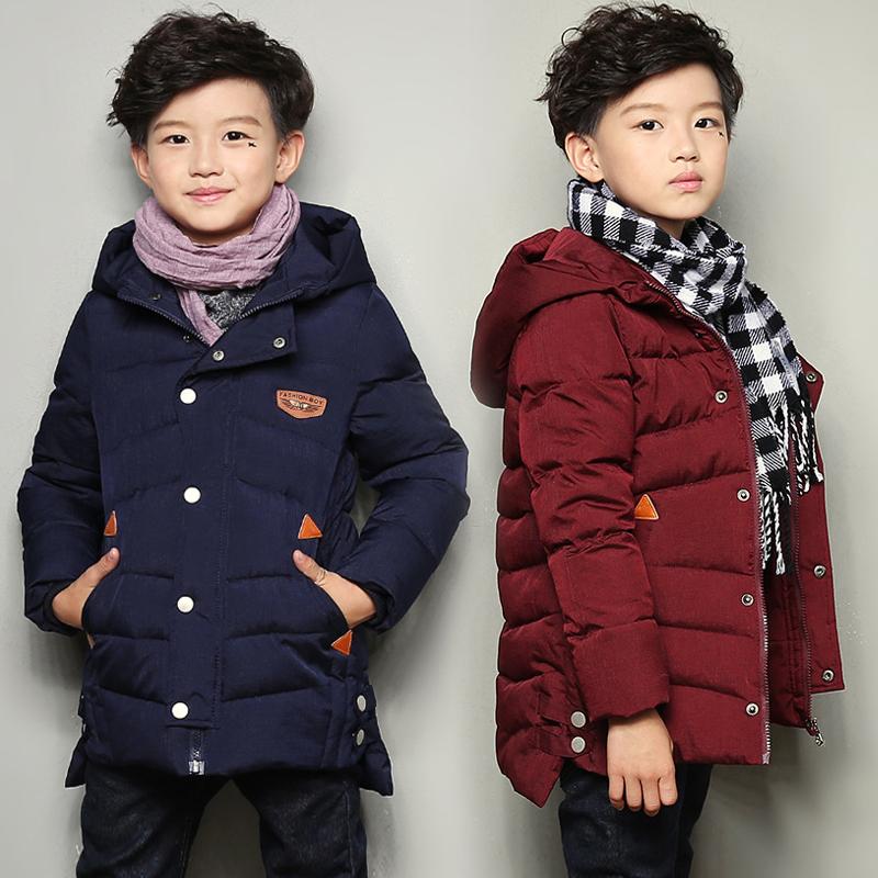 7男孩冬装棉衣外套2017新款8韩版中长款10小学生棉袄13中大童15岁