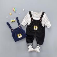 宝宝两件套B类12个月 秋季长袖 套装 T恤背带裤 韩版 新款 男童秋装图片