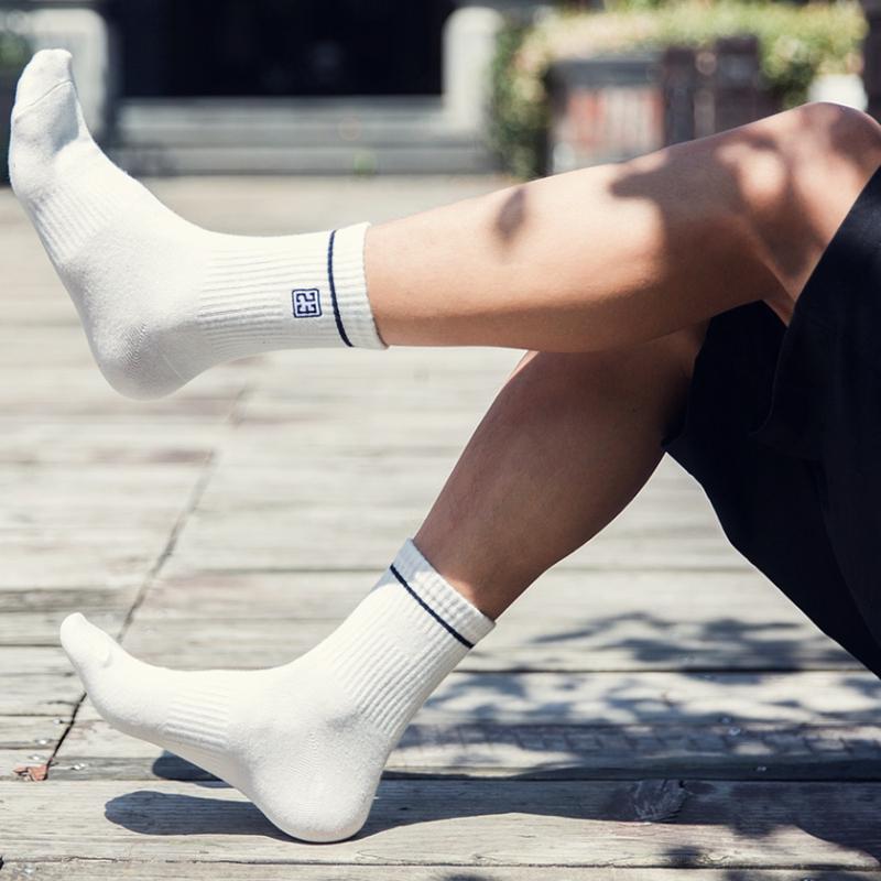 长袜男潮街头欧美情侣中筒百搭秋冬袜子潮牌冠军串标嘻哈女滑板袜
