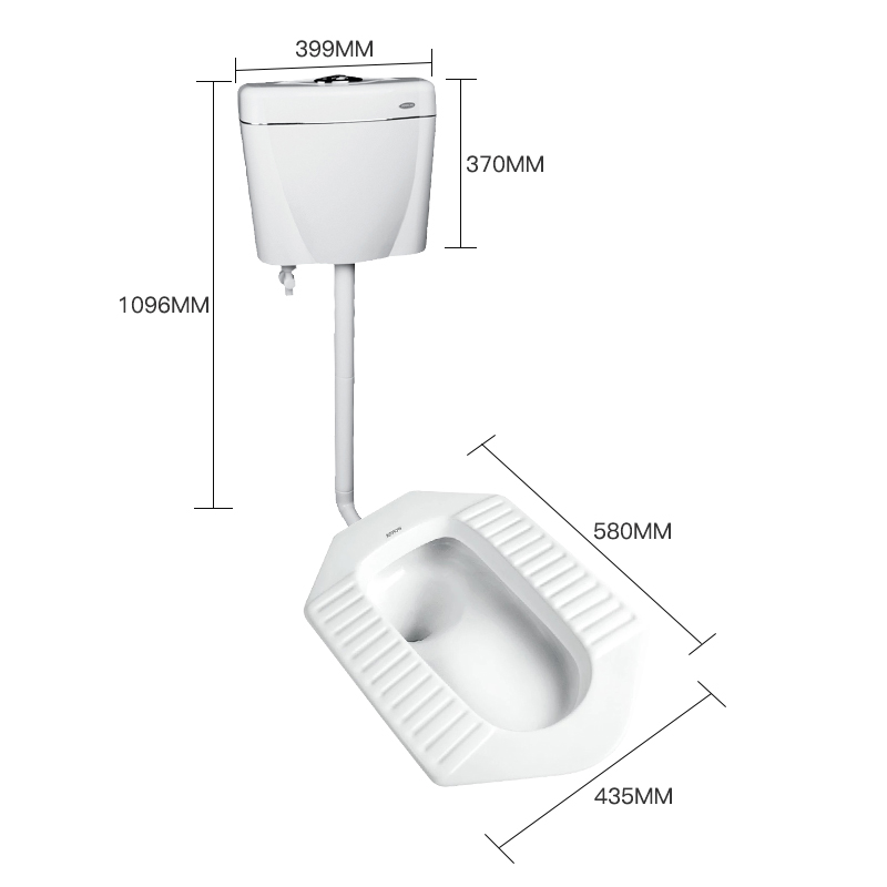 ARROW箭牌卫浴蹲便器ALD507系列蹲坑水箱套装蹲厕便池防臭大便器