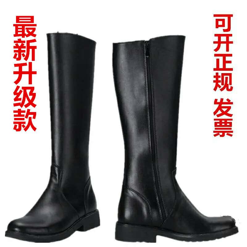新款大阅兵长筒马靴仪仗队高筒军靴骑马靴男女舞台表演演出军官靴