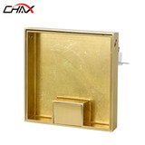 CHAX ground socket pure copper marble tile invisible hidden embedded open seven-hole floor socket can be inlaid