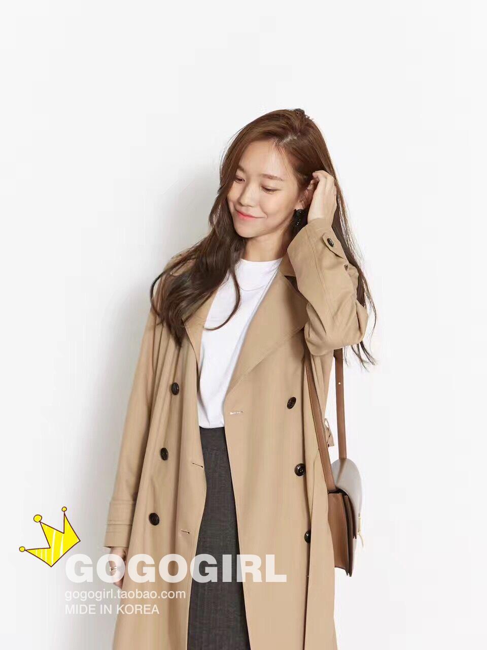 订货!韩国订购正品 HOHE SPELL 重磅垂感翻领腰带风衣
