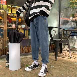 VZI(服饰)牛仔裤男直筒裤修身浅色牛仔裤男休闲男士裤子夏季潮