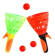 Value parent-child double play catapult ball set toy children ball outdoor early education sports learning toy
