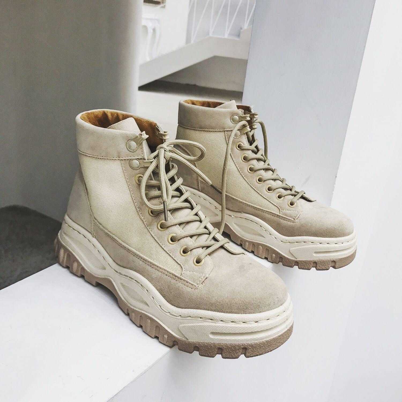 。高帮鞋男秋冬厚底鞋男士休闲鞋韩版潮流男鞋学生百搭马丁靴