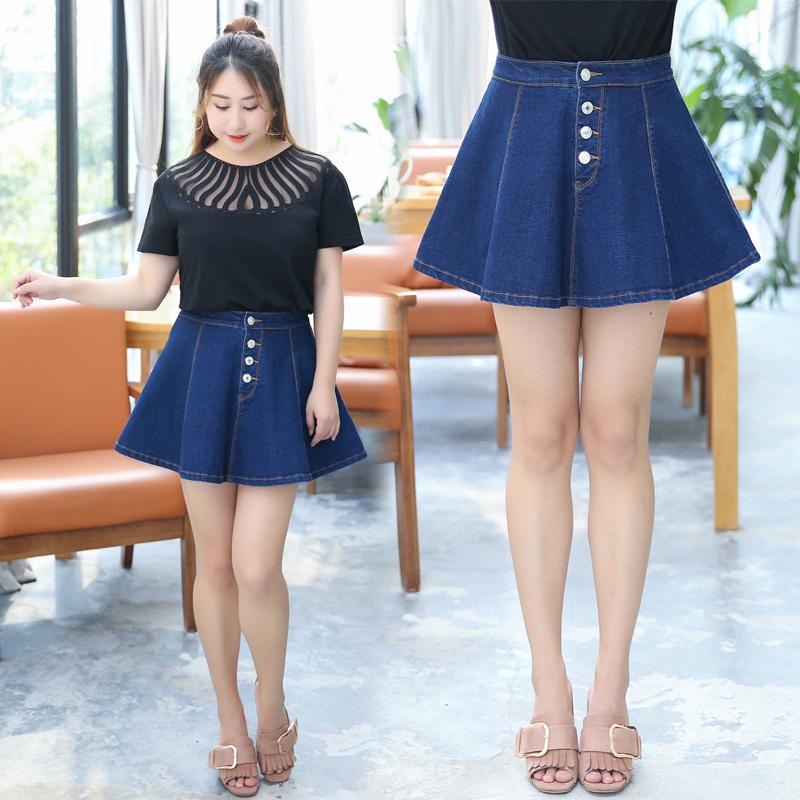 显瘦遮肚短裙