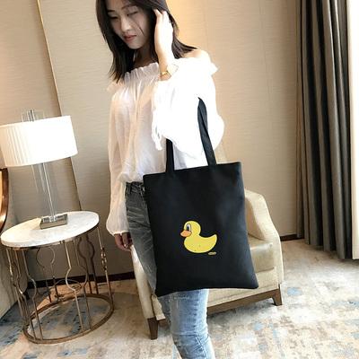 学生包新款黑色包包单肩女士包袋学生补课布包布兜地摊货源包