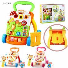 18个月玩具 学步车宝宝手推车6 可调高低 多功能音乐 防侧翻调速