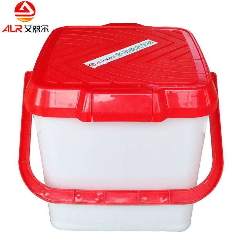 洗车水桶塑料桶子车用水桶带盖钓鱼桶车载多功能便携汽车清洁用品